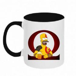 Кружка двоколірна 320ml God of war: Simpson