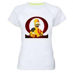 Жіноча спортивна футболка God of war: Simpson