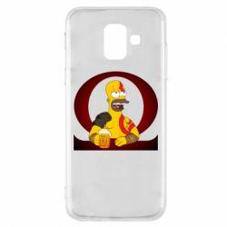 Чохол для Samsung A6 2018 God of war: Simpson