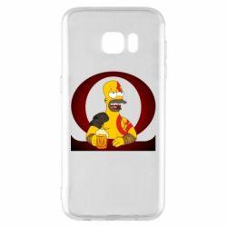 Чохол для Samsung S7 EDGE God of war: Simpson