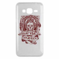 Чехол для Samsung J3 2016 God save the queen monochrome
