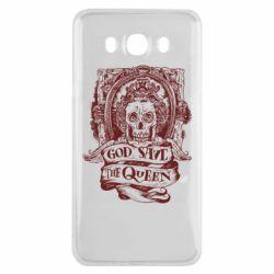 Чехол для Samsung J7 2016 God save the queen monochrome