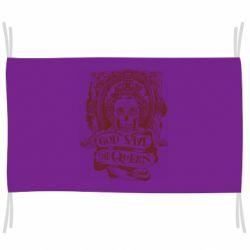 Флаг God save the queen monochrome