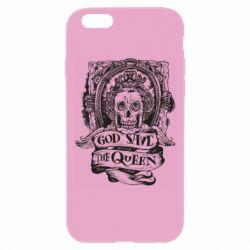 Чехол для iPhone 6 Plus/6S Plus God save the queen monochrome