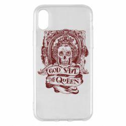 Чехол для iPhone X/Xs God save the queen monochrome