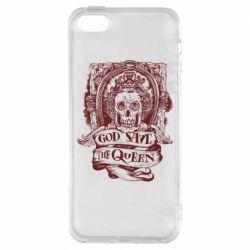 Чехол для iPhone5/5S/SE God save the queen monochrome