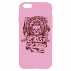 Чехол для iPhone 6/6S God save the queen monochrome