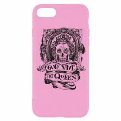 Чехол для iPhone 8 God save the queen monochrome