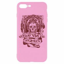 Чехол для iPhone 8 Plus God save the queen monochrome