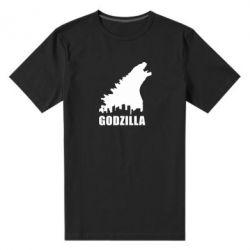 Мужская стрейчевая футболка Godzilla and city - FatLine