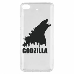 Чехол для Xiaomi Mi 5s Godzilla and city - FatLine