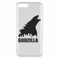 Чехол для Xiaomi Mi6 Godzilla and city - FatLine