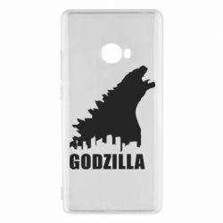Чехол для Xiaomi Mi Note 2 Godzilla and city - FatLine