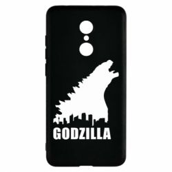 Чехол для Xiaomi Redmi 5 Godzilla and city - FatLine