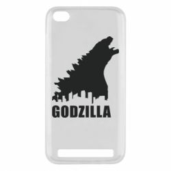 Чехол для Xiaomi Redmi 5a Godzilla and city - FatLine