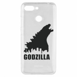 Чехол для Xiaomi Redmi 6 Godzilla and city - FatLine