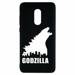 Чехол для Xiaomi Redmi Note 4 Godzilla and city - FatLine