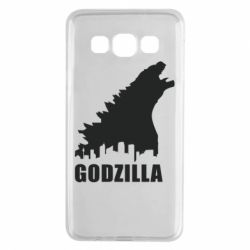 Чехол для Samsung A3 2015 Godzilla and city - FatLine