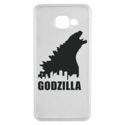 Чехол для Samsung A3 2016 Godzilla and city - FatLine