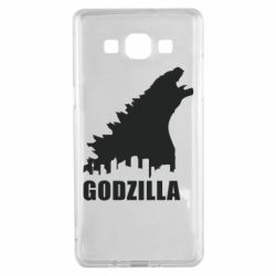 Чехол для Samsung A5 2015 Godzilla and city - FatLine