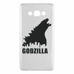Чехол для Samsung A7 2015 Godzilla and city - FatLine