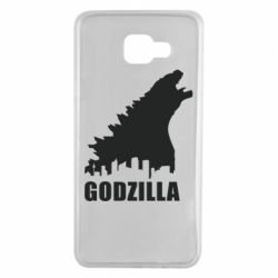 Чехол для Samsung A7 2016 Godzilla and city - FatLine