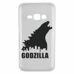 Чехол для Samsung J1 2016 Godzilla and city - FatLine