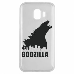 Чехол для Samsung J2 2018 Godzilla and city - FatLine