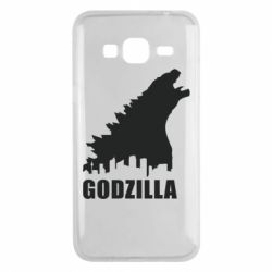 Чехол для Samsung J3 2016 Godzilla and city - FatLine