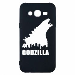 Чехол для Samsung J5 2015 Godzilla and city - FatLine