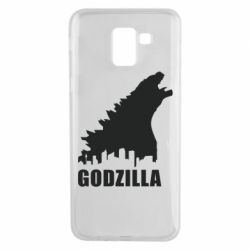 Чехол для Samsung J6 Godzilla and city - FatLine