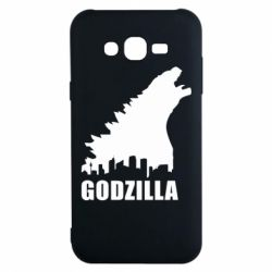 Чехол для Samsung J7 2015 Godzilla and city - FatLine