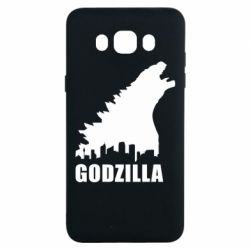 Чехол для Samsung J7 2016 Godzilla and city - FatLine