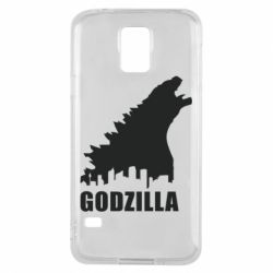 Чехол для Samsung S5 Godzilla and city - FatLine