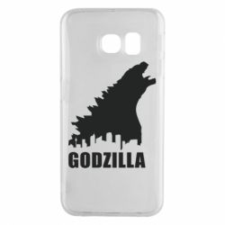 Чехол для Samsung S6 EDGE Godzilla and city - FatLine