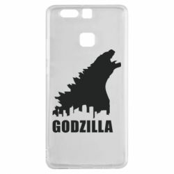 Чехол для Huawei P9 Godzilla and city - FatLine