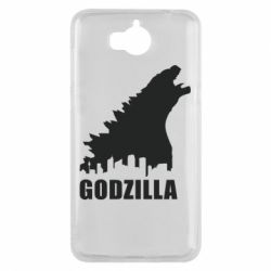 Чехол для Huawei Y5 2017 Godzilla and city - FatLine