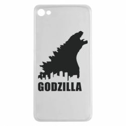 Чехол для Meizu U20 Godzilla and city - FatLine
