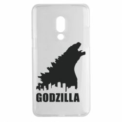 Чехол для Meizu 15 Plus Godzilla and city - FatLine