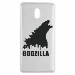 Чехол для Nokia 3 Godzilla and city - FatLine