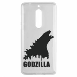 Чехол для Nokia 5 Godzilla and city - FatLine