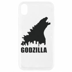 Чехол для iPhone XR Godzilla and city - FatLine