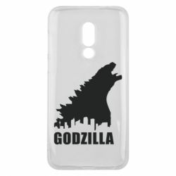 Чехол для Meizu 16 Godzilla and city - FatLine