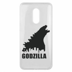 Чехол для Meizu 16 plus Godzilla and city - FatLine