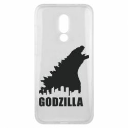 Чехол для Meizu 16x Godzilla and city - FatLine