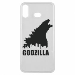 Чехол для Samsung A6s Godzilla and city - FatLine