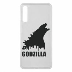 Чехол для Samsung A7 2018 Godzilla and city - FatLine