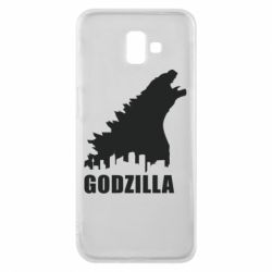 Чехол для Samsung J6 Plus 2018 Godzilla and city - FatLine