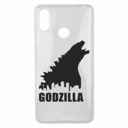 Чехол для Xiaomi Mi Max 3 Godzilla and city - FatLine