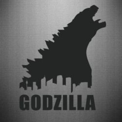 Наклейка Godzilla and city - FatLine